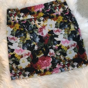Urban Outfitters floral stretchy skirt